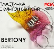 Пластинка с винтом Бертони (Bertony) (трехмерный винт)